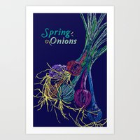 Spring Onions Art Print