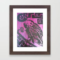 Aztec Owls Framed Art Print