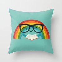 Brainbow Throw Pillow
