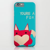 iPhone & iPod Case featuring You're A Fox by Liz Dorvee