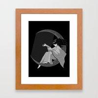 Crescent Melody Framed Art Print