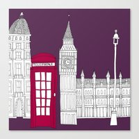 Night Sky // London Red … Canvas Print