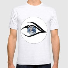 The planet on which we live can see everything Mens Fitted Tee Ash Grey SMALL