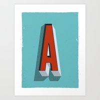 Art Print featuring Letter A by INDUR