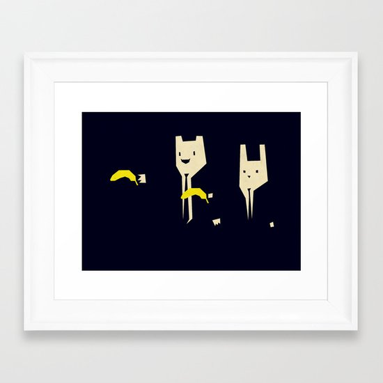 Pulp banana Framed Art Print