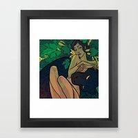 Watching Framed Art Print