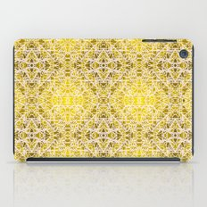 Random rope on gold foil iPad Case