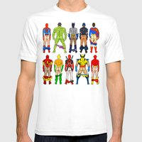 Superhero Butts Mens Fitted Tee White SMALL