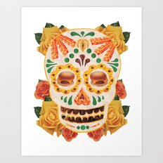 Mexican Day of the Dead Bacon Sugar Skull