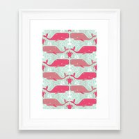 Whales & Friends Framed Art Print