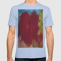 Blood Red Love Mens Fitted Tee Athletic Blue SMALL