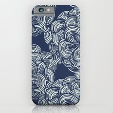 clouds - navy Slim Case iPhone 6s