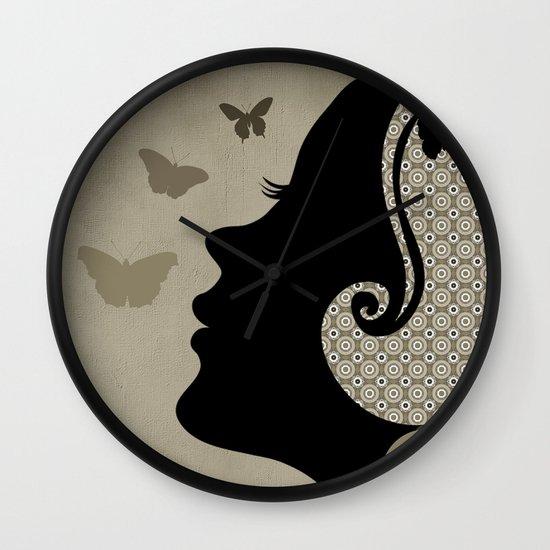 madame butterfly (II) Wall Clock