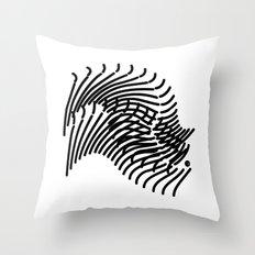 Zebra Sonnet Throw Pillow