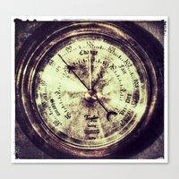 A Change In Weather  |  Antique Barometer Canvas Print