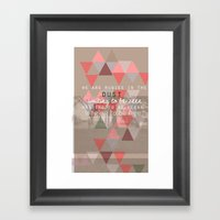 Rubies In The Dust- Word… Framed Art Print