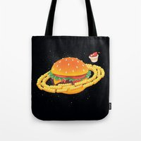 Galactic Cheeseburger & Fries Tote Bag