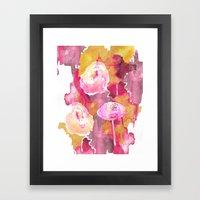 Painterly Flowers Framed Art Print