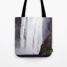 Man Vs. Nature - Skógafoss, Iceland Tote Bag