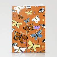 Stationery Card featuring Butterflies Butterflies by Pink Pagoda Studio / Barbara Perrine Chu