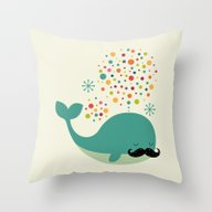 Throw Pillow featuring Firewhale by Andy Westface