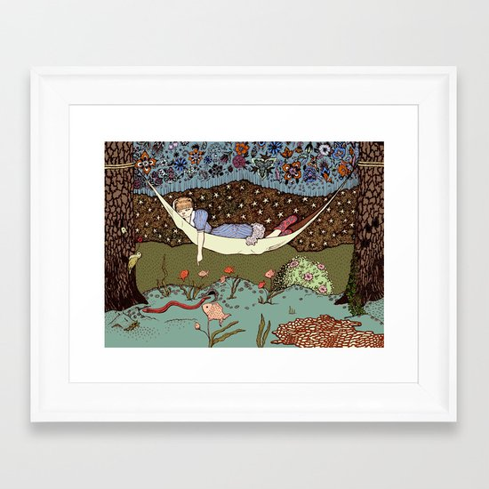 Liquid Forest Framed Art Print