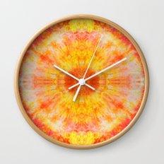Orange Sunburst Wall Clock