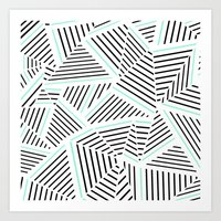 Ab Linear Zoom With Mint Art Print