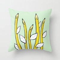 Pencilflowers Throw Pillow