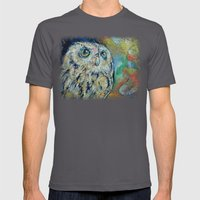 Owl Mens Fitted Tee Asphalt SMALL