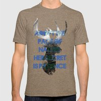 Adopt The Pace Of Nature… Mens Fitted Tee Tri-Coffee SMALL