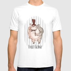 Freddy Fazbear White Mens Fitted Tee SMALL