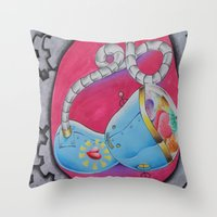 Conception Of A Robot Throw Pillow