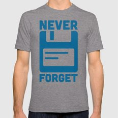 Never Forget Floppy Disk Mens Fitted Tee Tri-Grey SMALL