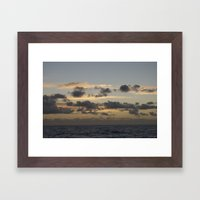 Pacific Sunset Framed Art Print