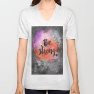 Unisex V-Neck featuring Be Strong by LebensART