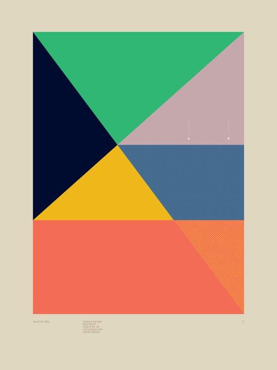Secret Surf Map 5 — Matthew Korbel-Bowers Canvas Print