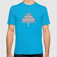 Patterned Cake Mens Fitted Tee Teal SMALL
