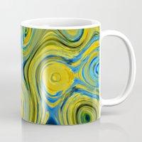 Liquid Yellow And Blue Mug