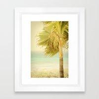 Palm Trees Always Whisper Framed Art Print