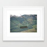 ski Framed Art Print