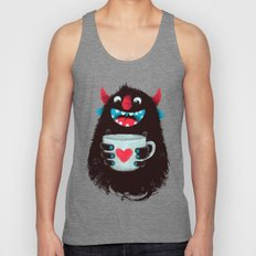 Demon With A Cup Of Coff… Unisex Tank Top