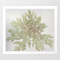 50 Shades of Green Art Print