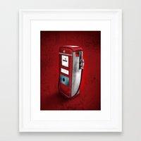 Red Gasoline's Bomb Retr… Framed Art Print