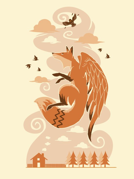 The Flying Fox's First Flight Art Print