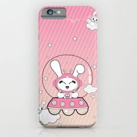 Space Bunny Flying iPhone 6 Slim Case