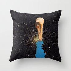 Globular Girl Throw Pillow