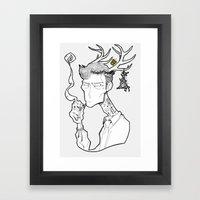 Rust Cohle Framed Art Print