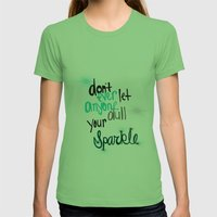 Unique Sparkle Womens Fitted Tee Grass SMALL