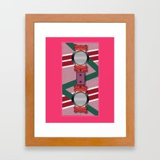 Minimalist Hoverboard Framed Art Print